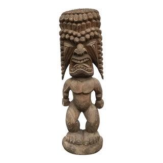 Monumental Carved Tiki Totem