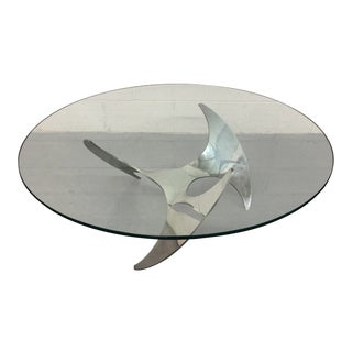 20th Century Aluminum Propeller Coffee Table by Knut Hesterberg For Sale