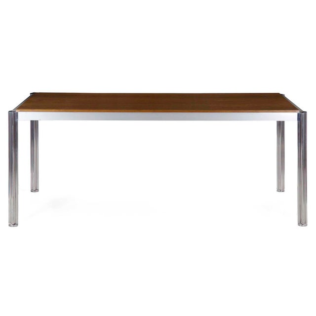 Rare Circa 1960s Jens Risom Oak and Aluminum Dining Table with Shamrock Legs For Sale - Image 13 of 13