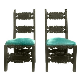17th Century Antique Italian Renaissance Chairs - a Pair For Sale