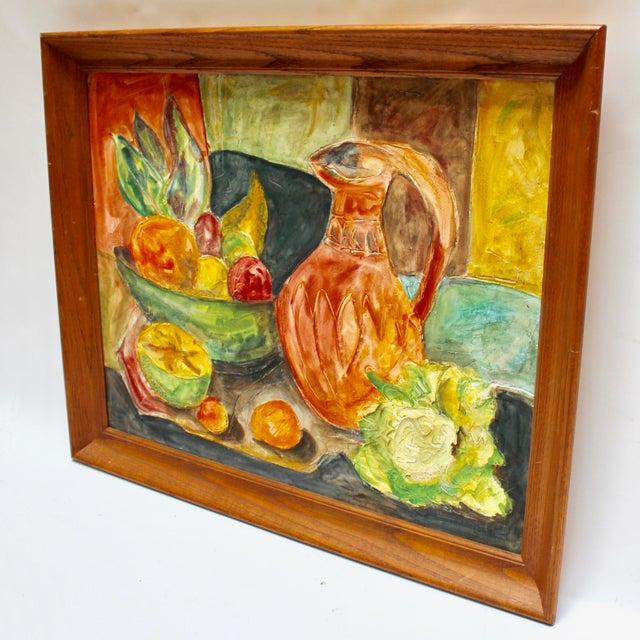 Impressionist Mid-Century Impressionist Textured Still Life Painting For Sale - Image 3 of 6