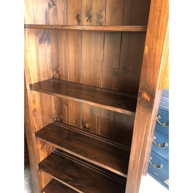 Ethan Allen Old Tavern Pine Bookcase For Sale In New York - Image 6 of 10
