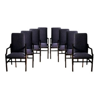 Vintage Henredon Purple Upholstered Dining Chairs - Set of 8 For Sale