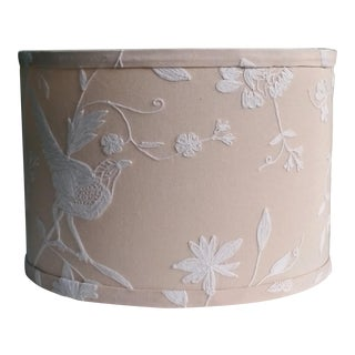Natural White Embroidered Lampshade For Sale