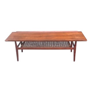 Mid-Century Danish Modern Coffee Table Attributed to Arne Vodder For Sale