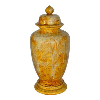 Vintage Rogers Ceramic Porcelain Lidded Ginger Jar / Vase For Sale