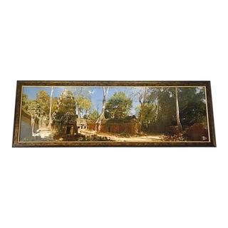 "Angkor Wat Temple Print Cambodia Hindu Temple 66"" Framed Artwork For Sale"