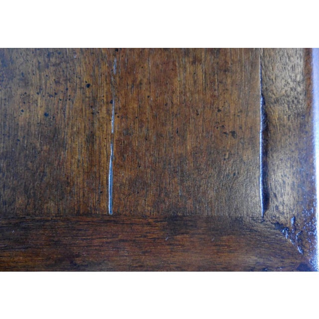 Custom Walnut Console With Raised Panels For Sale In Los Angeles - Image 6 of 8