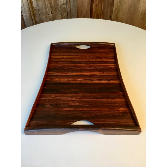 Mid-Century Modern Don Shoemaker Exotic Hardwood Serving Tray For Sale - Image 3 of 13