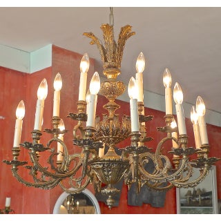 French 19th Century Bronze Chandelier With 18 Lights Preview