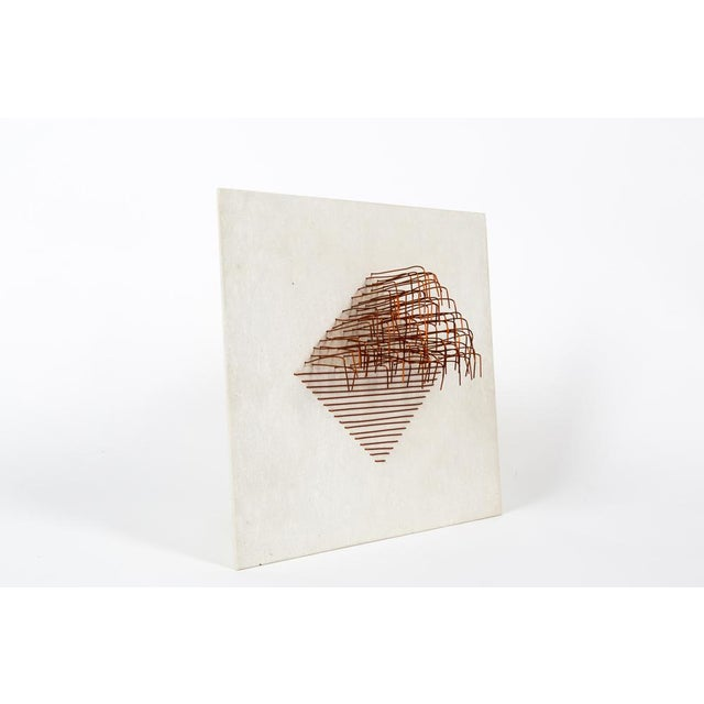 Original panel sculpture in eternity and copper line. Creation of the artist Carmen Bardy. Signed, numbered and dated on...