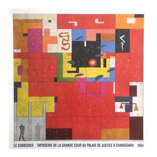 Le Corbusier Original Lithograph Poster Edition Lidiarte 1987