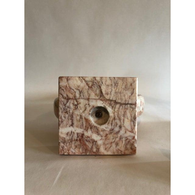 Orange Pink Marble Sculpture For Sale - Image 8 of 10