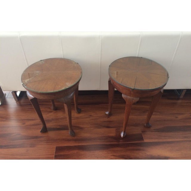 Vintage Inlaid Teak Accent Tables - A Pair - Image 4 of 7