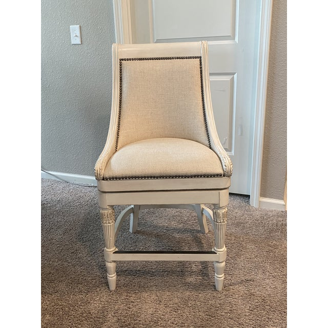 Frontgate Swivel Counter Barstools - Set of 3 For Sale - Image 10 of 11