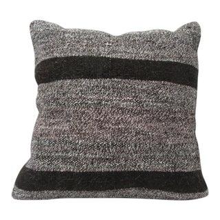 Vintage Turkisk Kilim Grey Pillow Cover For Sale