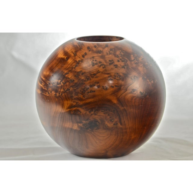 Boho Chic Bird's Eye Maple Sphere Candle Holder For Sale - Image 3 of 8