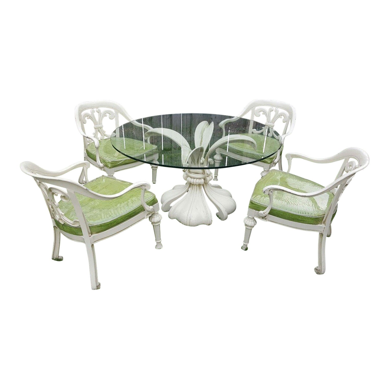 Kessler Biomorphic Aluminum Lily Patio Table Amp Chairs Set