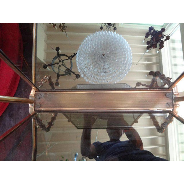 1940's Italian Brass and Smoked Glass Magazine Rack For Sale In Houston - Image 6 of 9