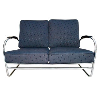 1950s Antique Royal Metal Company Sofa For Sale