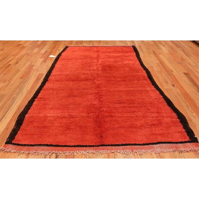 Beautiful room size vintage Moroccan rug, country of origin / rug type: Morocco, circa mid–20th century. Vintage Moroccan...