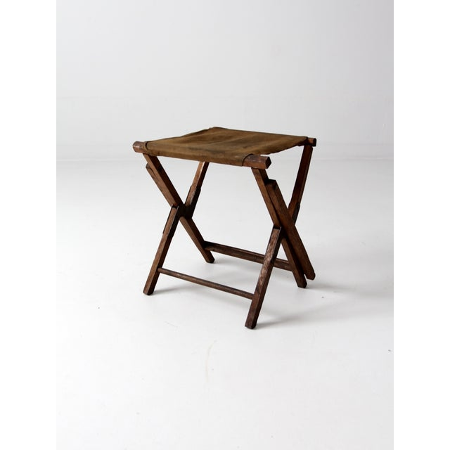 Vintage American Folding Camp Chair - Image 5 of 7