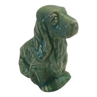 1950s Vintage Green McCoy Dog Planter For Sale