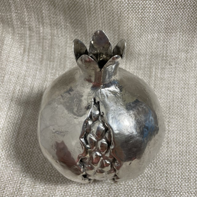 Rare Italian Pomegranate Novelty Table Lighter by Buccellatti. Realistic formed pomegranate with lighter fittings...