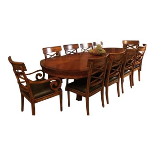 Italian Empire Dining Room Table & 12 Chairs For Sale