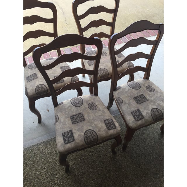 Ethan Allen Country French Dining Chairs - Set of 4 - Image 6 of 6