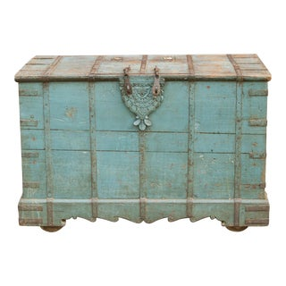 Tribal Azure Wedding Trunk For Sale