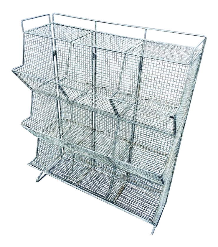 Industrial Style Wire Mesh Storage Bin   Image 1 Of 10