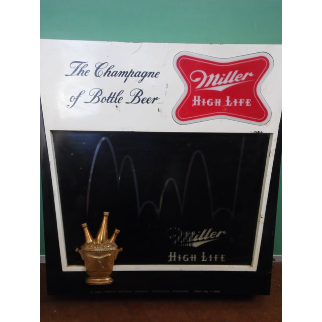Vintage Miller Lighted Beer Sign - Image 3 of 6