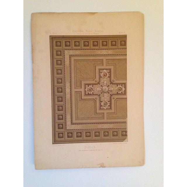 German Architectural Decorative Deutsches Maler Journal Chromolithograph - Image 2 of 4