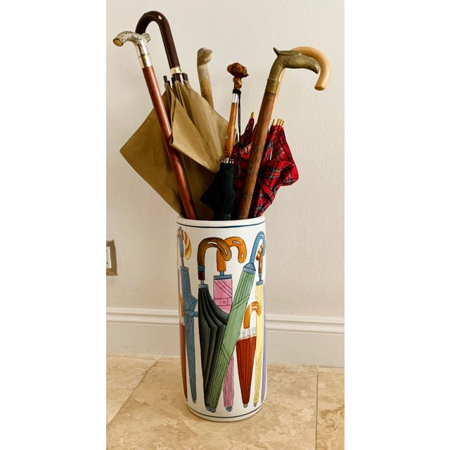 Ceramic Vintage Ceramic Umbrella Stand For Sale - Image 7 of 9