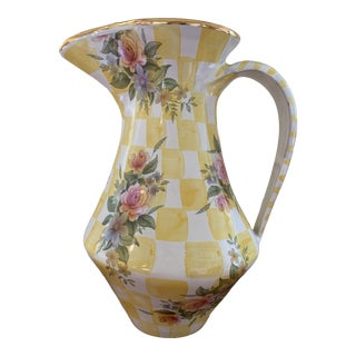 Vintage Mackenzie Childs Dandy Lion Honeymoon Collection Pitcher For Sale