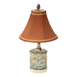 Asian Chintz Tea Caddy Accent Lamp