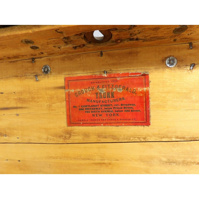Late 19th Century Antique Crouch & Fitzgerald Coffee Table/Steamer Trunk For Sale - Image 10 of 11