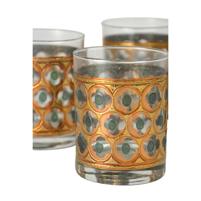 Vintage Green & Gold Cocktail Glasses - 4 - Image 3 of 4