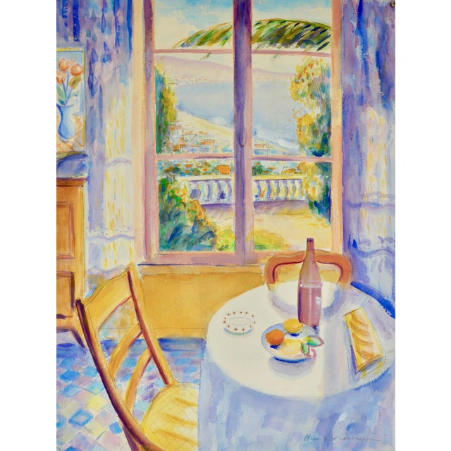 Watercolor View of Provence, France For Sale - Image 7 of 7