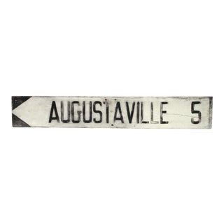 Vintage 'Augustaville' Sign For Sale
