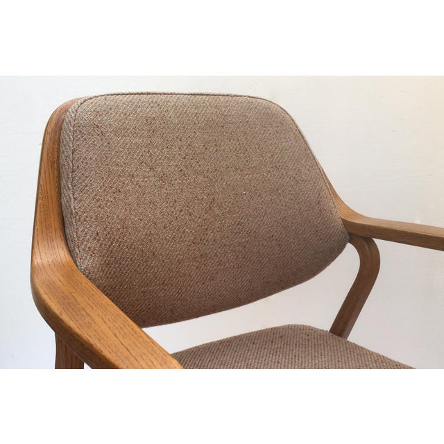 Don Pettit for Knoll International Bentwood Arm / Desk Chair For Sale - Image 9 of 13