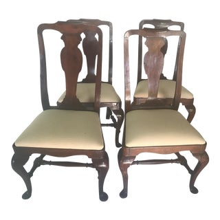 Mid 18th Century Period Queen Anne Chairs- 4 Pieces For Sale
