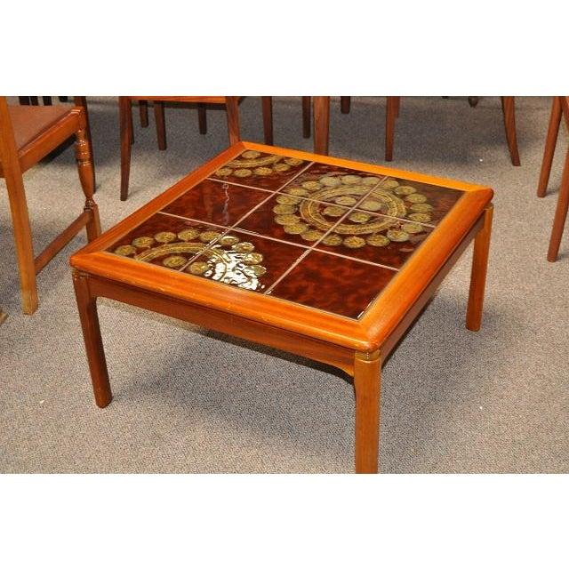 Teak & Tile Coffee Table C.1970 - Image 4 of 8