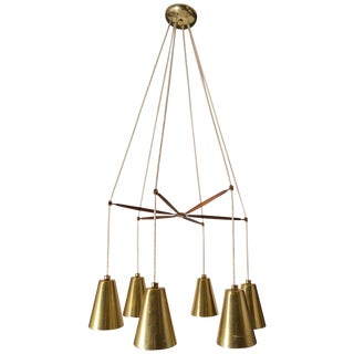 Large Thurston for Lightolier Six Light Chandelier For Sale