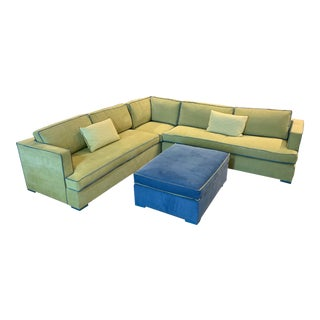Custom Two Piece Sectional From Upholstery Workroom For Sale