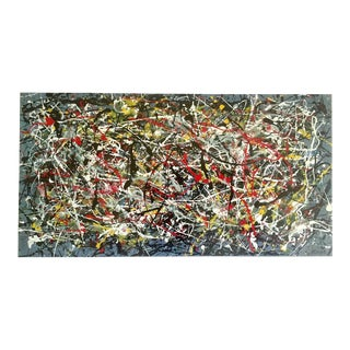 """Jackson Pollock Foundation Abstract Expressionist Collector's Lithograph Print """" Drip Painting """" 1949 For Sale"""