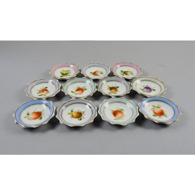 Porcelain Nut Candy Dishes Fruit Design - Set of 11 - Image 3 of 5