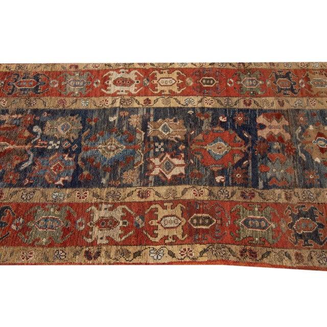 "Textile Vintage Persian Tribal Bakshaish Rug, 3'3"" X 10'10"" For Sale - Image 7 of 11"