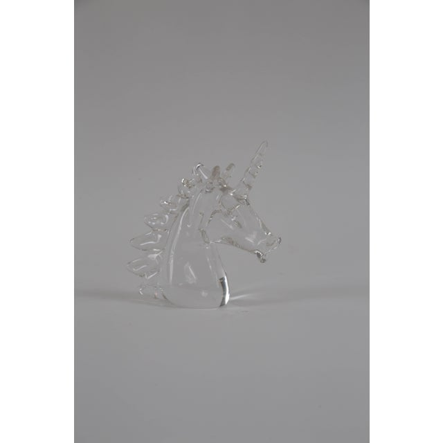 Marcolin Art Crystal Unicorn Sculpture For Sale - Image 5 of 7